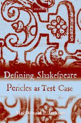 Defining ShakespearePericles as Test Case